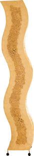 STEHLEUCHTE - Braun, MODERN, Textil/Weitere Naturmaterialien (30,5/23,5/149cm)