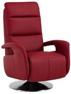 RELAXAČNÍ KŘESLO, červená, kůže - barvy nerez oceli/červená, Design, kov/kůže (84/88/110cm) - BELDOMO PREMIUM