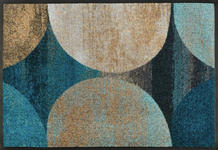 FUßMATTE 50/75 cm Graphik Blau, Beige  - Blau/Beige, Basics, Kunststoff/Textil (50/75cm) - Esposa