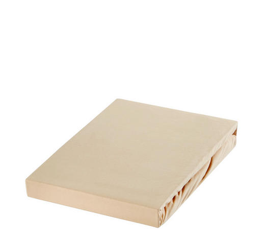 SPANNBETTTUCH Jersey Beige bügelfrei, für Wasserbetten geeignet - Beige, Basics, Textil (100/220cm) - Novel