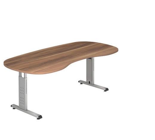 SCHREIBTISCH - Silberfarben/Zwetschgefarben, KONVENTIONELL, Holzwerkstoff/Metall (100/200cm)