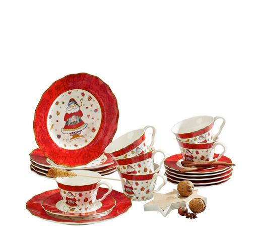SERVIS KÁVOVÝ, 18-dílné, porcelán (new bone china) - vícebarevná, Basics, keramika - X-Mas