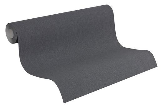VLIESTAPETE 10,05 m - Anthrazit, Design, Textil (53/1005cm)