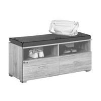 GARDEROBENBANK 100/43/40 cm - Chromfarben/Eichefarben, Design, Holzwerkstoff/Kunststoff (100/43/40cm) - Xora