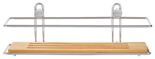 BADEZIMMERREGAL Holz, Metall Bambus - Holz/Metall (26,5/8,5/12cm)