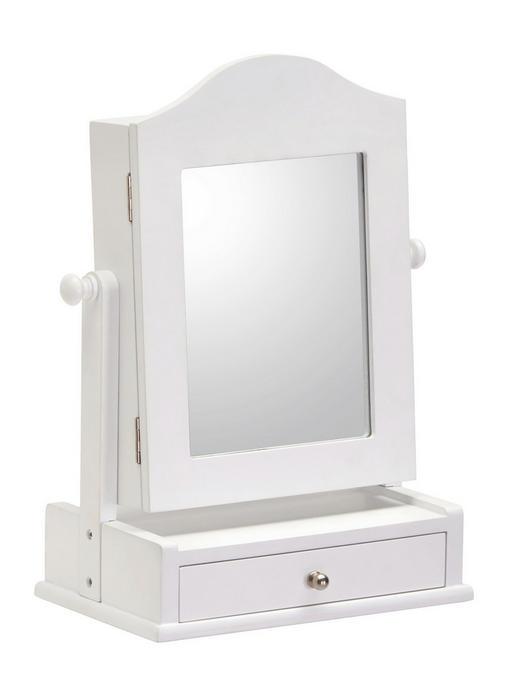 ŠKATLA ZA NAKIT - črna/bela, Design, steklo/leseni material (23/35/15cm) - Xora