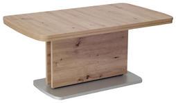 COUCHTISCH in Holzwerkstoff 145-180/63/53-72 cm   - Eichefarben/Silberfarben, KONVENTIONELL, Holzwerkstoff (145-180/63/53-72cm) - Venda