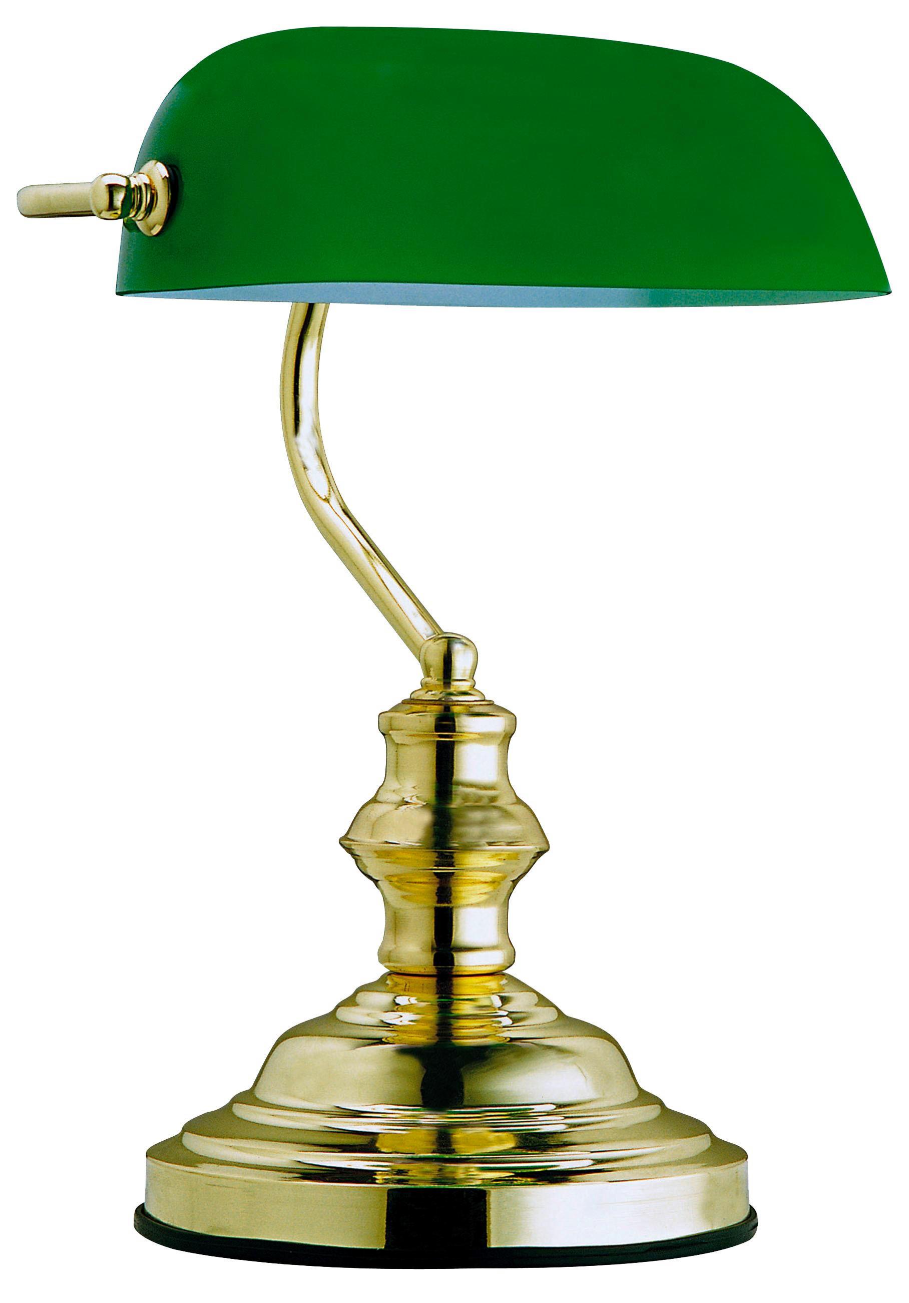 SVJETILJKA ZA PISAĆI STOL - zelena, Lifestyle, staklo/metal (25/36cm) - LANDSCAPE