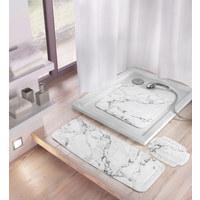 DUSCHEINLAGE Kunststoff - Anthrazit, Design, Kunststoff (55/55cm) - Kleine Wolke