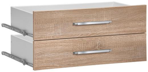 SCHUBLADE - Alufarben/Sonoma Eiche, KONVENTIONELL, Holzwerkstoff/Kunststoff (37,7/34,6/36,8cm)