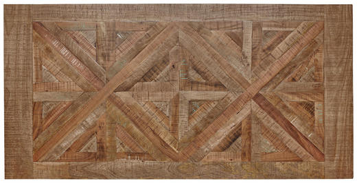 TISCHPLATTE Mangoholz massiv Hellbraun - Hellbraun, Trend, Holz (180/90/3,8cm) - Valdera