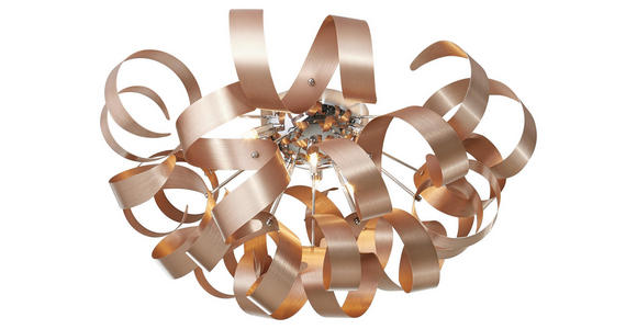 LED-DECKENLEUCHTE - Chromfarben/Kupferfarben, Design, Metall (70/40cm) - Ambiente