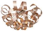 LED-TAKLAMPA - kromfärg/kopparfärgad, Lifestyle, metall (70/40cm) - Ambiente