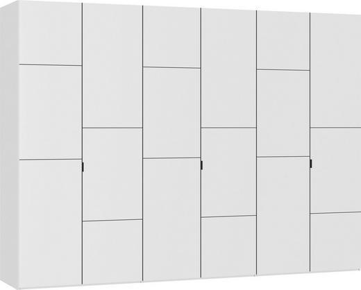 DREHTÜRENSCHRANK 6  -türig Weiß - Schwarz/Weiß, Design, Holzwerkstoff/Metall (303,1/220/59cm) - JUTZLER