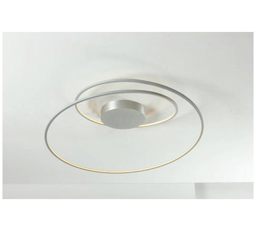 LED-DECKENLEUCHTE - Alufarben, Design, Metall (75/30cm)