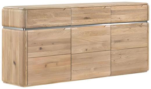 SIDEBOARD Wildeiche massiv Eichefarben - Eichefarben, Design, Holz (181/82/40cm) - Venda
