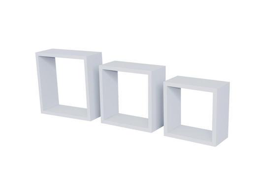 WANDREGALSET 3-teilig Weiß - Weiß, Design - Carryhome