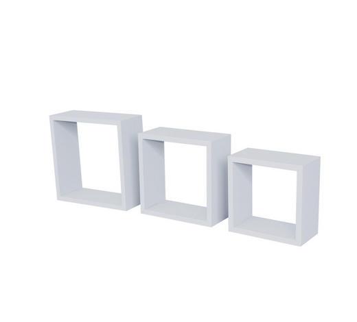 WANDREGALSET 3-teilig Weiß  - Weiß, Design (24/27/30/24/27/30/24/27/30cm) - Carryhome