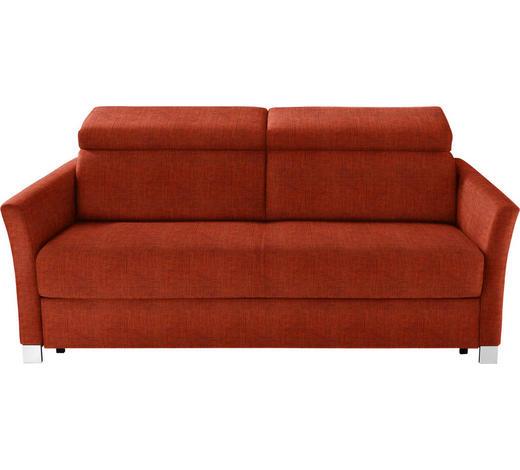 SCHLAFSOFA in Textil Orange  - Silberfarben/Orange, KONVENTIONELL, Holz/Textil (185/100/100cm) - Bali