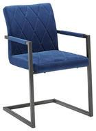SCHWINGSTUHL Samt Blau, Schwarz - Blau/Schwarz, LIFESTYLE, Kunststoff/Textil (53,50/87/60cm) - Xora
