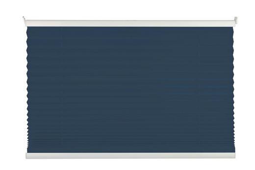 PLISSEE  halbtransparent  50/130 cm - Dunkelblau, Basics, Textil (50/130cm)