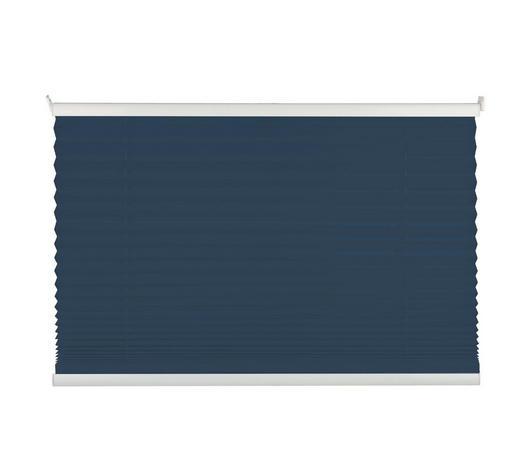 PLISSEE  halbtransparent  80/130 cm    - Dunkelblau, Basics, Textil (80/130cm)
