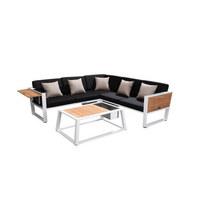 VRTNA GARNITURA - bijela/siva, Moderno, drvo/metal (224,50/61,5/224,5cm) - AMBIA GARDEN