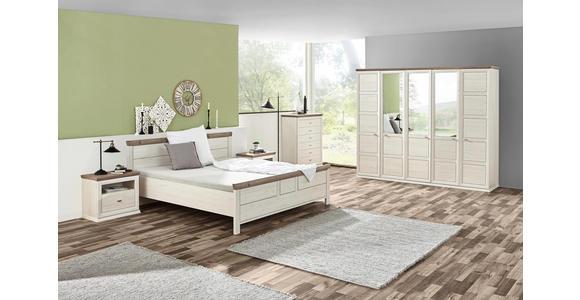 BETT 180/200 cm  in Grau, Weiß - Weiß/Grau, LIFESTYLE, Holzwerkstoff (180/200cm) - Hom`in