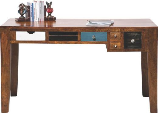 SCHREIBTISCH Pappel massiv Braun, Multicolor - Multicolor/Braun, Design, Holz/Metall (135/78/60cm) - KARE-Design