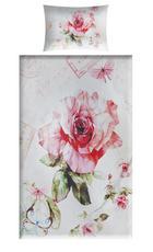 POSTELJINA - roza/bijela, tekstil (140/200cm) - Esposa
