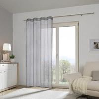 ÖSENVORHANG transparent - Silberfarben, Design, Textil (140/245cm) - ESPOSA
