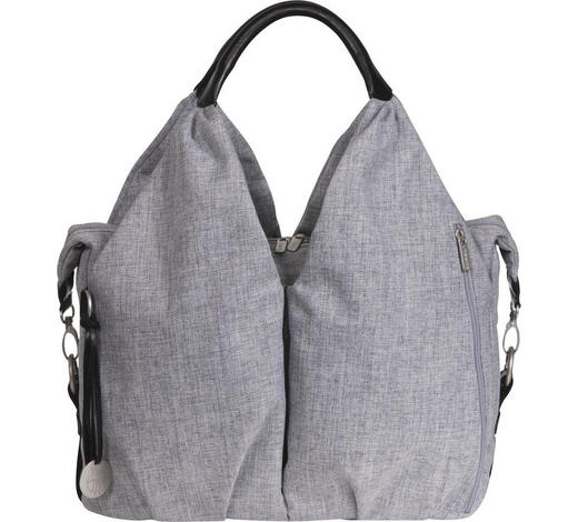 WICKELTASCHE - Grau, Basics, Textil - Lässig