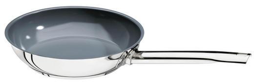 BRATPFANNE 24 cm Keramikbeschichtung - Edelstahlfarben, Basics, Metall (24cm) - SCHULTE UFER