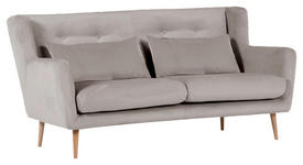 ZWEISITZER-SOFA in Textil Grau  - Braun/Naturfarben, Design, Textil (175/86/90cm) - Carryhome