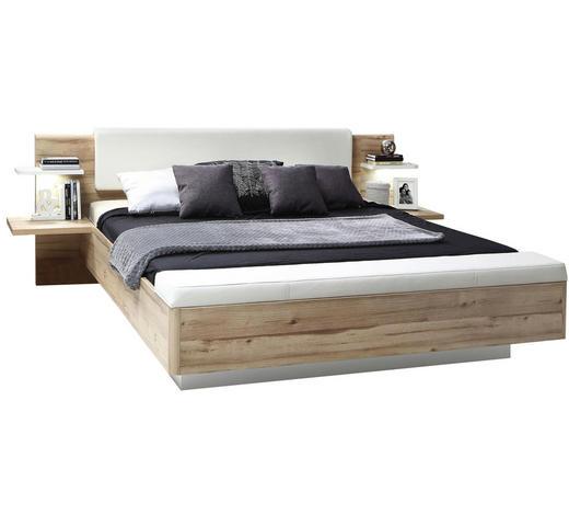 POSTELOVÁ SESTAVA - bílá/barvy dubu, Design, kompozitní dřevo (180/200cm) - Ti`me