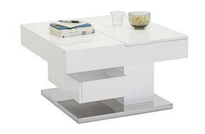SOFFBORD - vit/rostfritt stål-färgad, Trend, metall/träbaserade material (75/75/44cm) - Xora