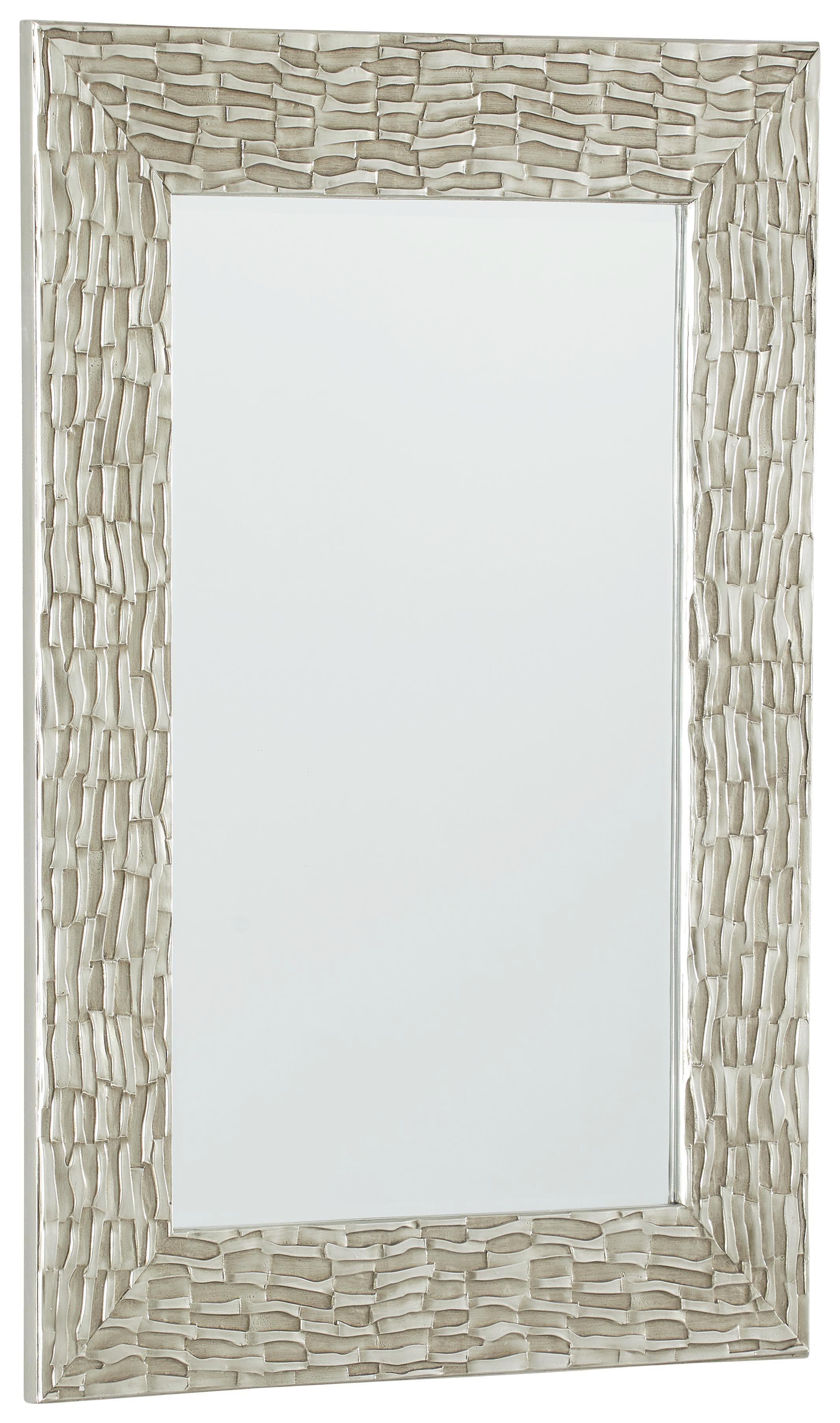 SPIEGEL Silberfarben - Silberfarben, LIFESTYLE, Glas/Holzwerkstoff (75/105/3,5cm) - XORA