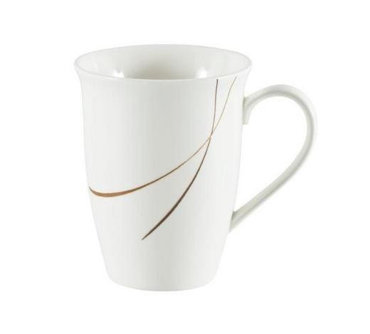 KAFFEEBECHER 350 ml - Braun/Weiß, Design, Keramik (0,35l) - Ritzenhoff Breker