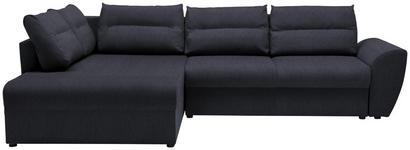 WOHNLANDSCHAFT in Textil Dunkelgrau  - Dunkelgrau/Schwarz, Design, Kunststoff/Textil (286/184cm) - Carryhome