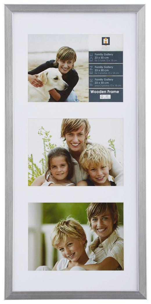 RAHMEN  Silberfarben - Silberfarben, Basics, Glas/Holz (23/50/3cm)