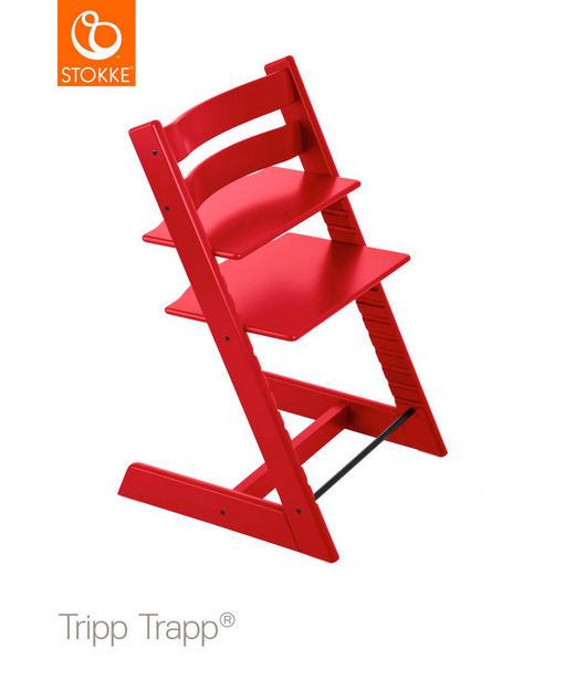 MATSTOL HÖG - röd, Lifestyle, trä (46/79/49cm) - Stokke