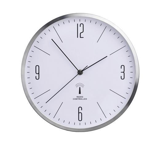 WANDUHR 30 cm - Silberfarben/Schwarz, Basics, Glas/Kunststoff (30cm) - Boxxx