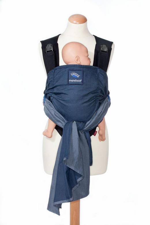 BABYTRAGE - Blau, Trend, Textil (34/17/22,5cm) - Wickelkinder Manduca