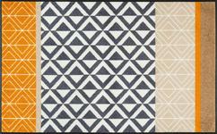 FUßMATTE 75/120 cm Graphik Beige, Gelb, Multicolor - Beige/Gelb, Basics, Kunststoff/Textil (75/120cm) - Esposa