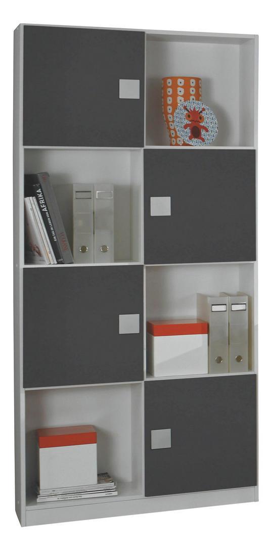 REGAL Grau, Weiß - Weiß/Grau, Design, Kunststoff (91/197/33cm) - Carryhome