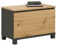 GARDEROBENBANK 71/47,5/37,1 cm  - Eichefarben/Anthrazit, Design, Holzwerkstoff (71/47,5/37,1cm) - Voleo