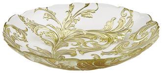 SCHALE Glas  - Transparent/Goldfarben, KONVENTIONELL, Glas (32/6,5cm) - Novel