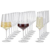 GLÄSERSET - Transparent, Basics, Glas (50,00/26,00/28,00cm) - LEONARDO