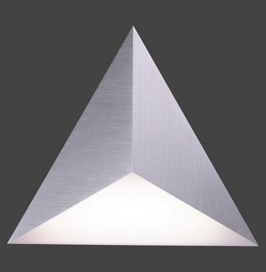 LED-WANDLEUCHTE - Silberfarben, MODERN, Kunststoff/Metall (35/30/4cm)