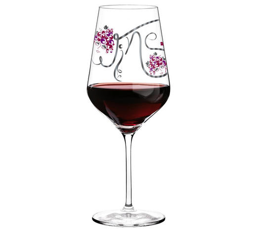ROTWEINGLAS - Platinfarben/Rot, Basics, Glas (10/10/25cm) - Ritzenhoff